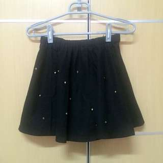 🎀黑色卯釘短裙