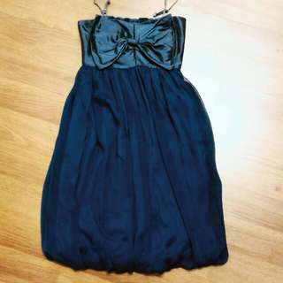Dark Turquoise Dress with Ribbon