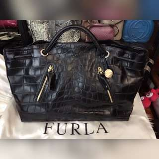 1f42274c3c Furla Crocodile Skin Bag (Black)