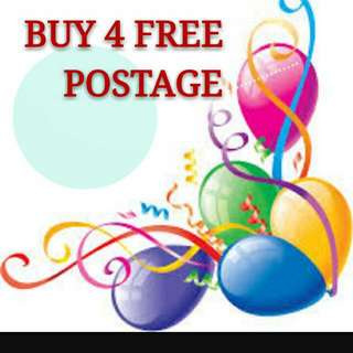 Buy 4 Free Postage