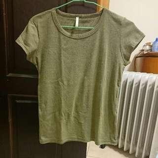 墨綠短袖上衣