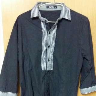 韓版襯衫 台南百貨購入 八成新約xl尺寸