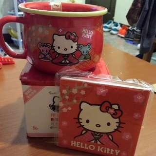 Hello Kitty 造型杯碗組