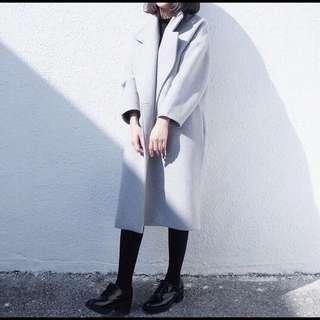 超好看~保暖寬鬆版型隨性長大衣