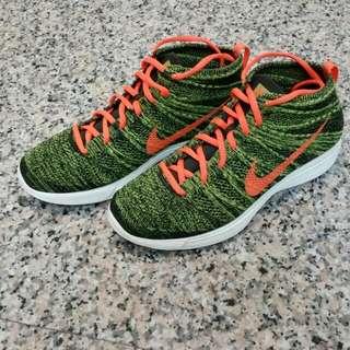(暫售)九成新~Nike Flyknit Chukka 中筒青草綠 Us9號