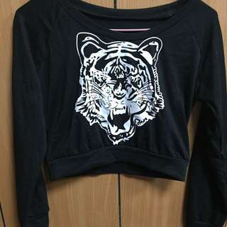 老虎短版上衣