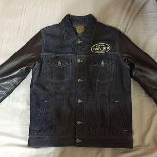 Provider Dark Cyclone Denim Jacket 皮袖騎士拼接襯衫外套