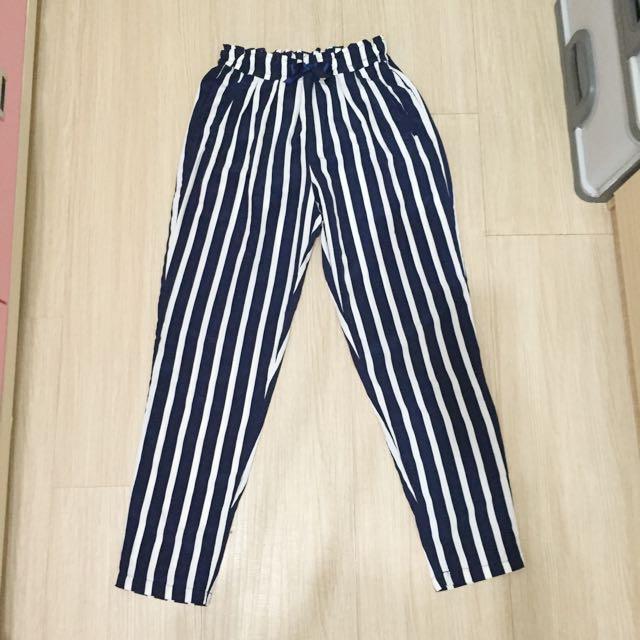 藍白條紋老爺褲