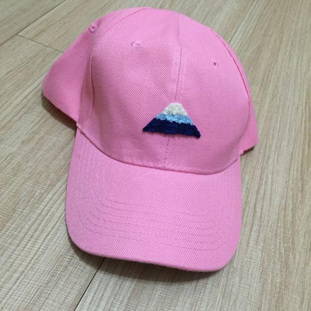 富士山粉紅棒球帽