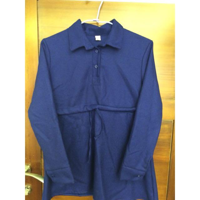 長版紫色衣衫