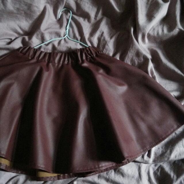 個性風皮裙
