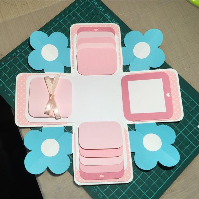 客製化盒子卡片(小藍花)