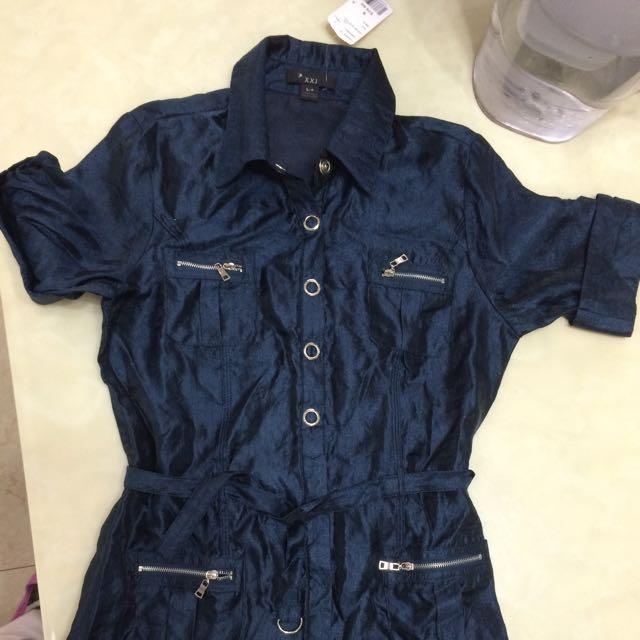 全新長版寶藍衣
