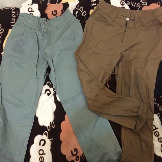 《全新》西裝褲,反折褲。