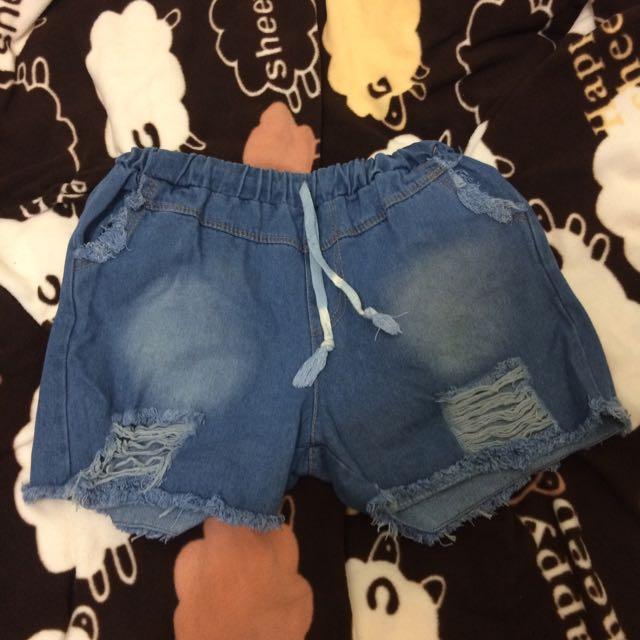 《全新》牛仔短褲