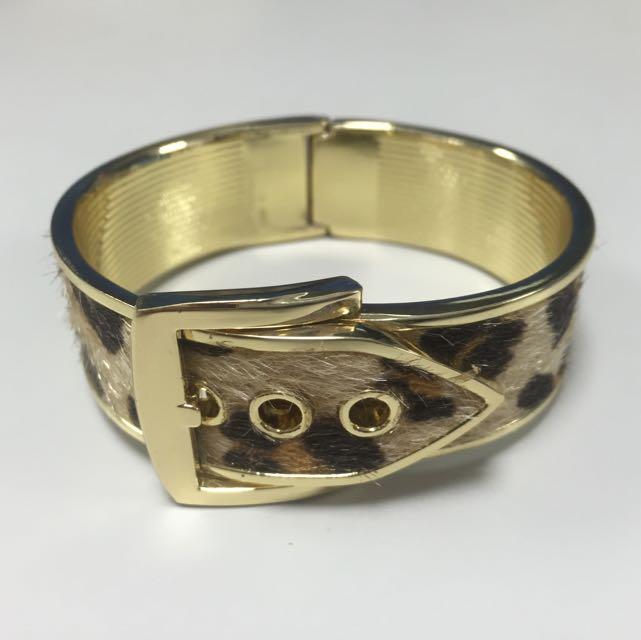 金屬豹紋手環