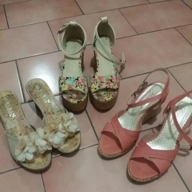 *含運*韓版渡假風高跟鞋&露指厚底涼鞋