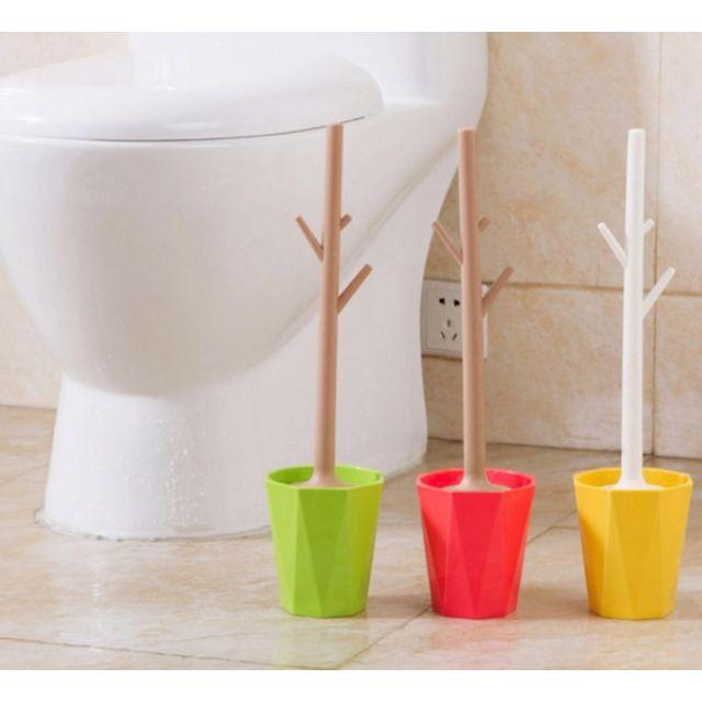 創意盆栽樹枝型 浴室廁所馬桶刷帶底座套裝