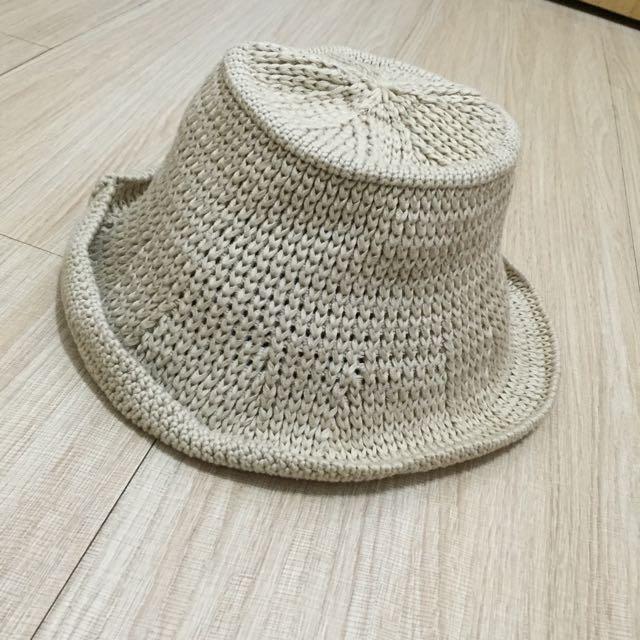 針織漁夫帽 咖