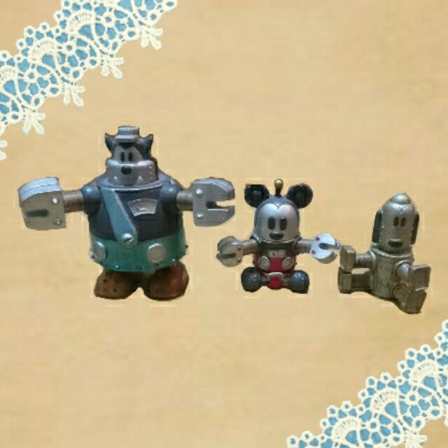 迪士尼米奇布魯托 彈簧公仔模型