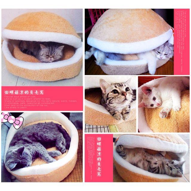 超萌 喵星人最愛 四季可用 漢堡窩貝殼窩銅鑼燒窩貓窩寵物窩