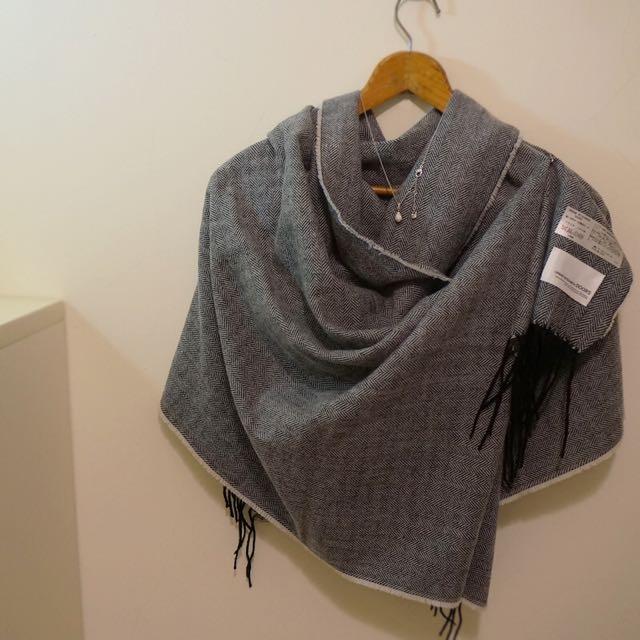 🔲 URBAN RESEARCH 氣質斜紋圍巾