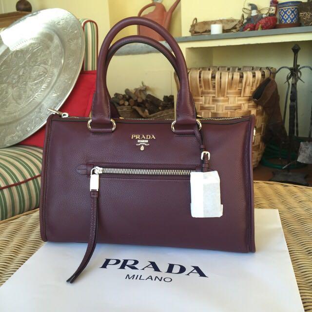 e86b6d668bbf Brand New Prada Soft Calf Leather Handbag, Luxury, Bags & Wallets on ...