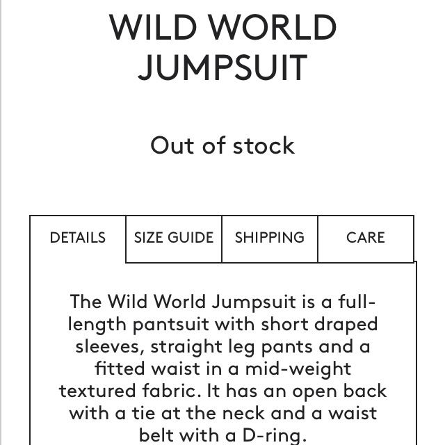 1d443540fe Cameo Wild World Jumpsuit Ivory XXS