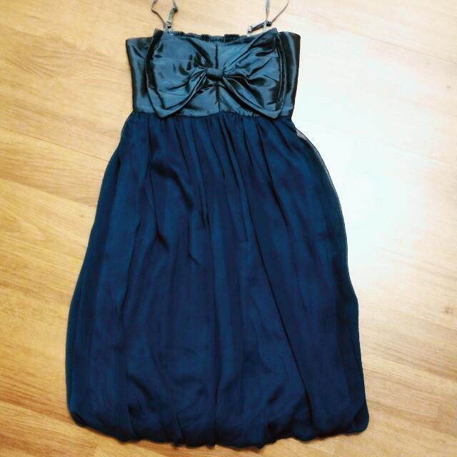 Dark Turquoise Dress with Ribbon