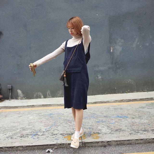 |daydream|復古毛線吊帶裙/2色(D0012)
