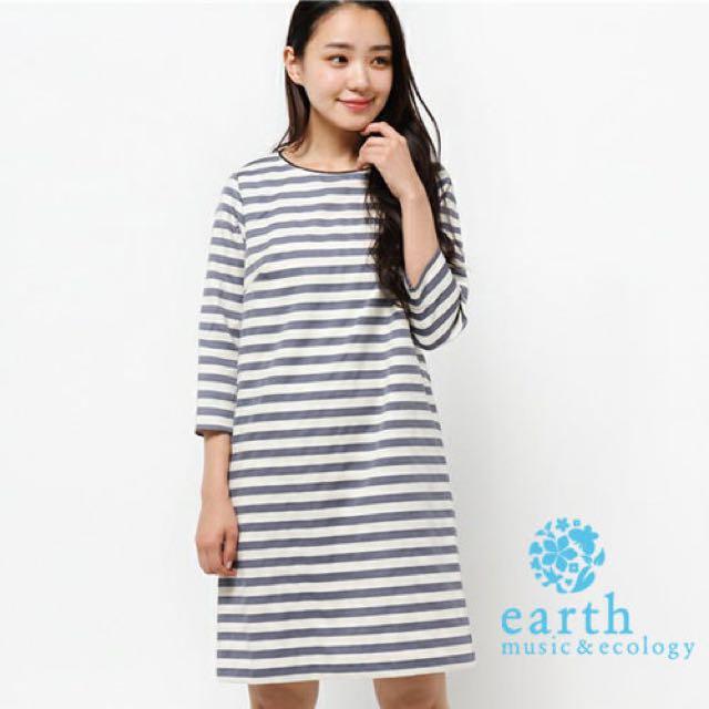 🔥大降價🔥earth music&ecology條紋洋裝