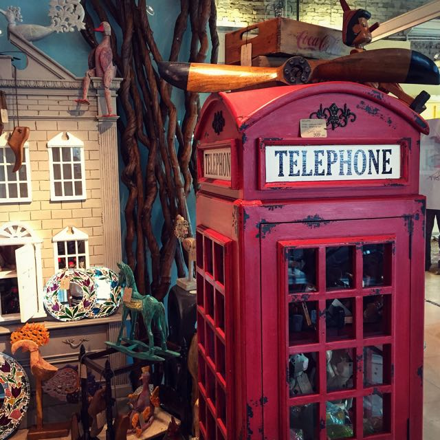 Glass Cabinet Wooden Telephone Box Vintage Furniture On Carousell