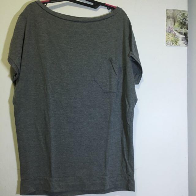 grey batwing shirt