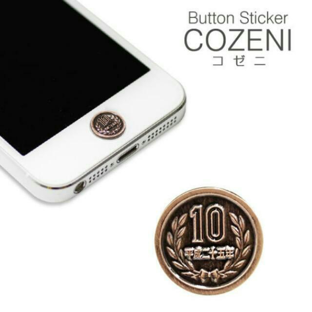 IPhone 硬幣造型按鍵貼