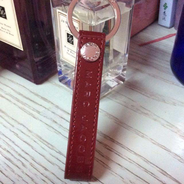 全新皮革Marc Jacobs紅色鑰匙圈(保留中
