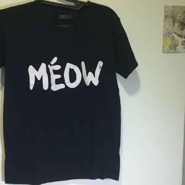 MEOW navy y&j shirt
