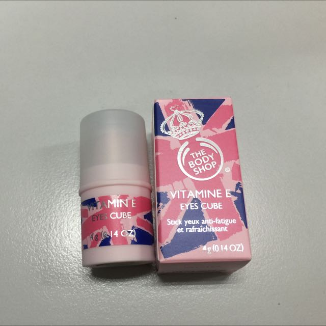 PRE LOVED : The Body Shop Vitamin E Eyes Cube (Limited Edition) 4g - Full Size, Health & Beauty on Carousell