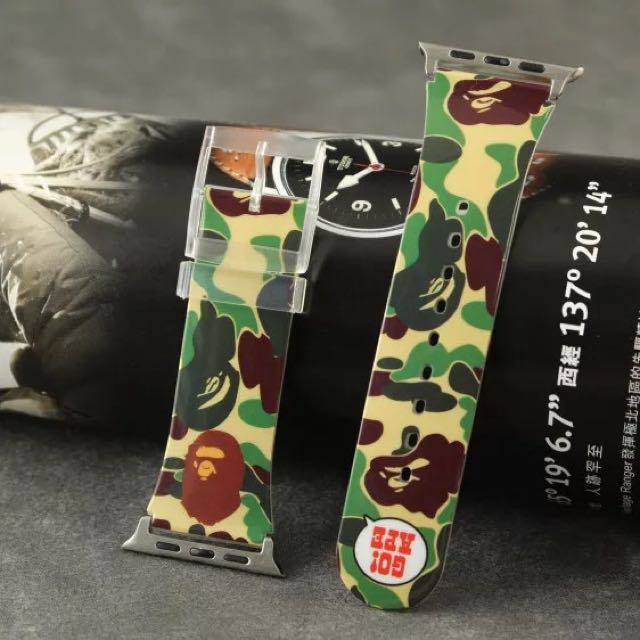 INSTOCK  Bathing Ape BAPE BABY MILO Apple Watch Strap  38mm \/ 42mm, Electronics on Carousell