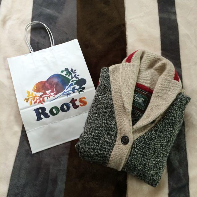 Roots 40%羊毛毛衣外套