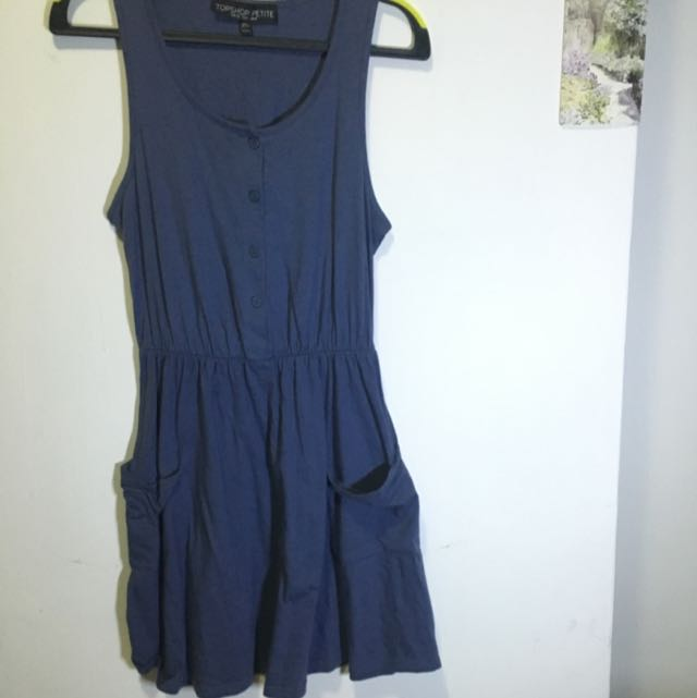 speckled blue button down cotton on dress