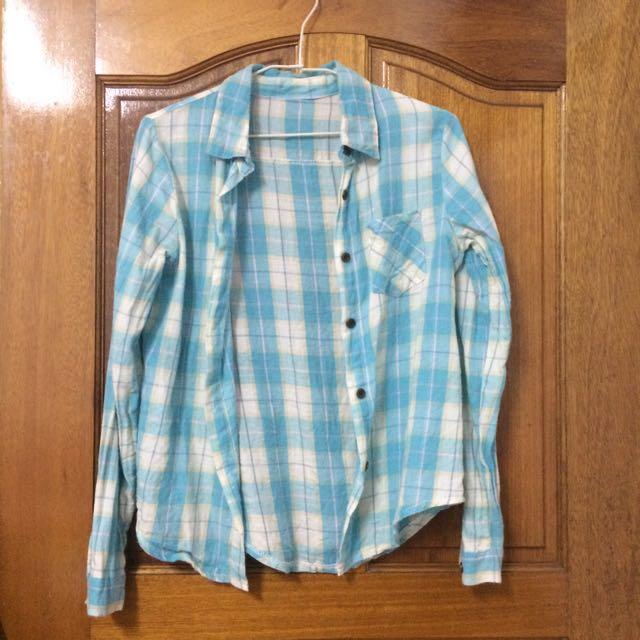 馬卡龍Tiffany藍襯衫