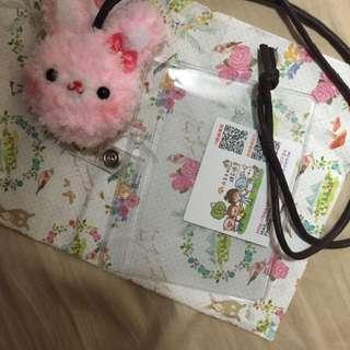 免運❗️收工可愛兔子票卡夾可伸縮的唷