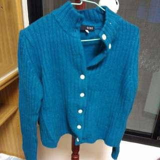 藍綠 針織外套