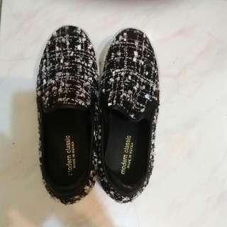 韓國製 千鳥紋懶人鞋