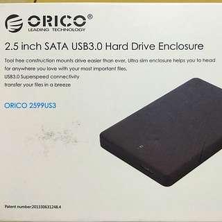 Brand New Orico 2.5inch SATA Harddrive Enclosure