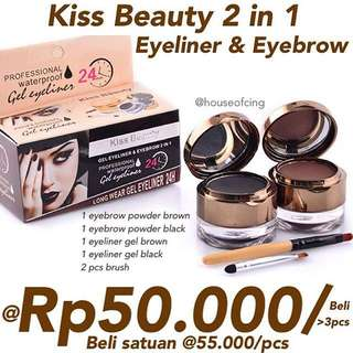 Kiss Beauty 2 in 1 Eyeliner + Eyebrow kit