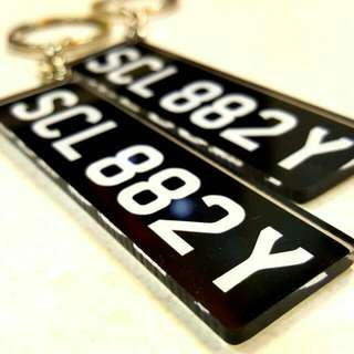 Mini Licence Plate Keychain or Magnetic-back Mini Licence Plate