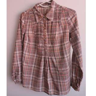 JustJeans Long-Sleeved Shirt - Size 8