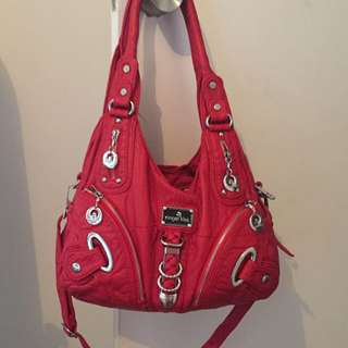 Angel Kiss Red Soft Leather Handbag