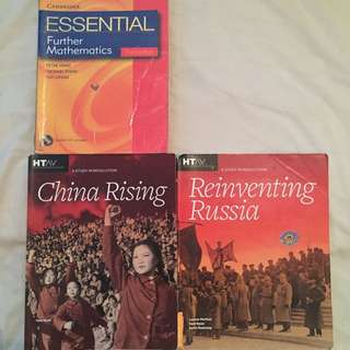 Year 12 History Revolutions And Further Maths Textbooks